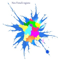 New French regions Nouvelles regions de France vector image vector image