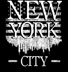 on the theme of fashion in new york city brooklyn vector image