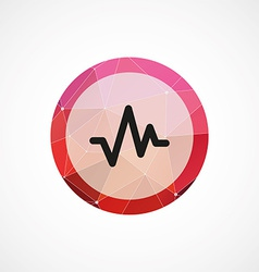 Pulse circle pink triangle background icon vector