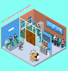 recruitment hiring hr management composition vector image