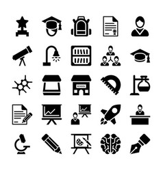 School and education icons 11 vector