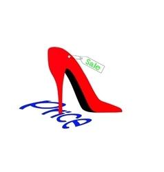 Shoe presses inscription price vector