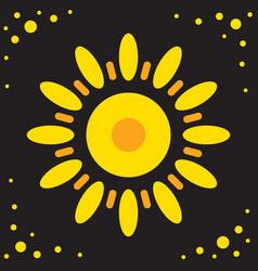 Sun icon isolated vector