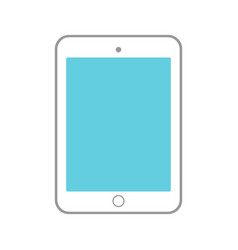 tablet icon isolated on white background vector image