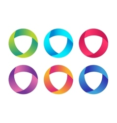 Technology orbit web rings logo vector