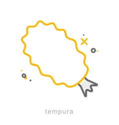 Thin line icons tempura vector