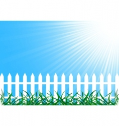 Vector background with fence vector