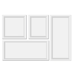 White photo frames vector image