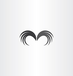 wings icon symbol element vector image vector image