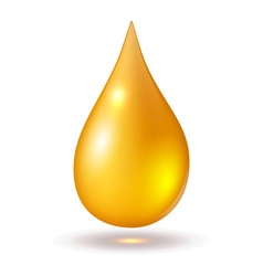 Yellow drop isolated on white vector