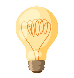 yellow light bulb isolated vector image vector image