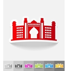 Realistic design element dubai palace vector