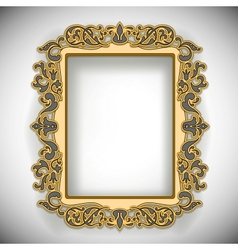 Carved wooden frame vector