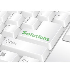 Solutions vector image