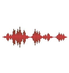 Red sound waves vector