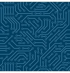 Computer circuit board seamless pattern vector