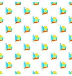 Sign miami pattern cartoon style vector