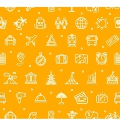 Travel and Tourism Background Pattern vector image