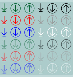 sign download upload load icon sign download vector image