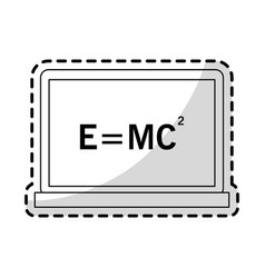 relativity theory equation math icon image vector image
