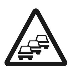 traffic congestion sign line icon vector image