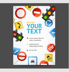 Road sign flyer banner posters card vector