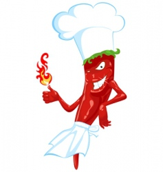 Chili chef vector
