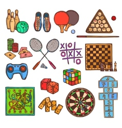 Game sketch icons vector