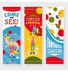 Circus banners vector