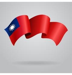 Taiwan waving Flag vector image