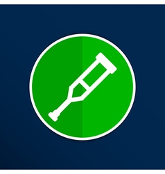 Crutch or crutches icon with flat design element vector