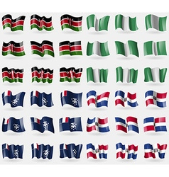Kenya nigeria french and antarctic dominican vector