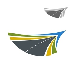 Road abstract icon with flowing lines vector