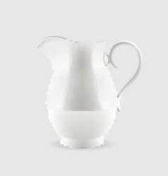 White pitcher isolated on grey background vector
