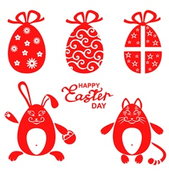 Easter miniset red vector