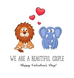 Valentine card vector image