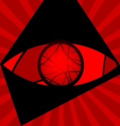 Background red eye vector