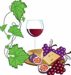 Wine yard vector