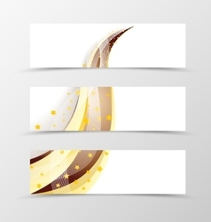 Set of banner swoosh design vector