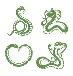funny snakes vector image