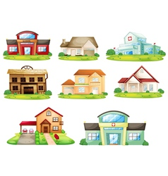 Houses and other building vector image