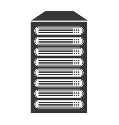 Computer cpu server icon vector