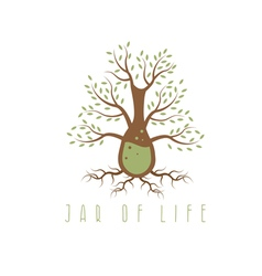 Jar of life design concept with tree vector