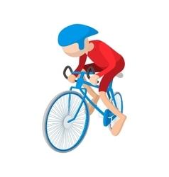Athlete cyclist cartoon icon vector