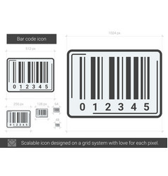Bar code line icon vector