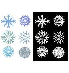 Beautiful and unique snowflakes vector