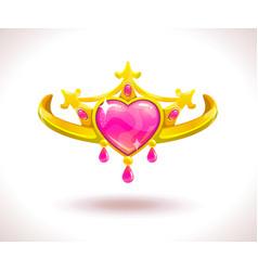 beautiful golden princess crown vector image vector image