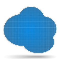 Blueprint Cloud vector image vector image