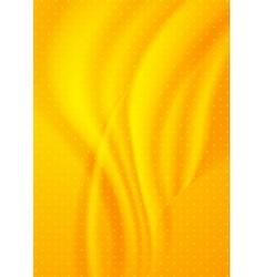 Bright orange dotted wavy background vector