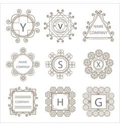 Calligraphic monogram emblem template vector image vector image